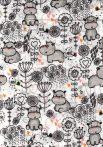 1db-os színes,mintás textil pelenka - bébi víziló