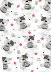 1db-os mintás textil pelenka  - cute teddy