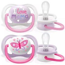 Avent Ultra air Happy 0-6hó játszócumi - lányos I love mama