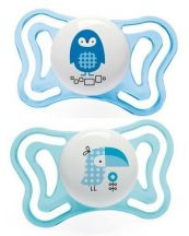Chicco Physio Forma Light szilikon cumi 2 db, 2-6 hó kék varjú/kék bagoly