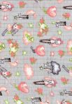 1db-os színes,mintás textil pelenka - nyuszi