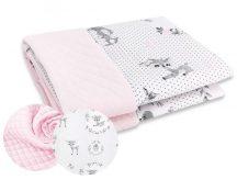 Kétoldalas babapléd - Őzike rózsaszín