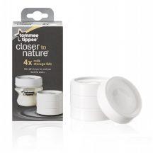 Tommee Tippee Closer To Nature tejtároló fedél 4db/csomag