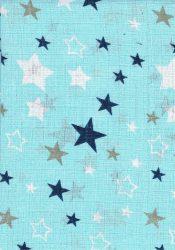1db-os mintás pelenka - kék csillagos