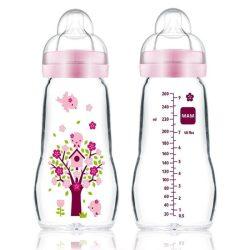 Mam  Feel Good 260ml  Premium üvegből készült cumisüveg 2+ (rózsaszín)