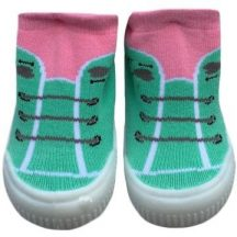 YO! Lány zoknicipő 21-es rózsaszín/zöld fűzős