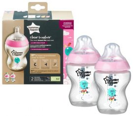 Tommee Tippee Closer To Nature 2*260ml cumisüveg - 0+ Panda