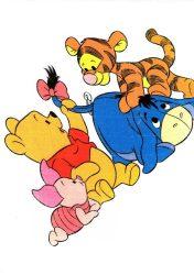 Disney tetra fürdőlepedő 140*140 cm - Micimackó & barátai