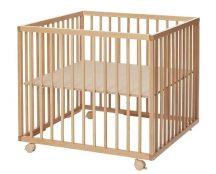 BabyDan Fa járóka Comfort Medium 79x79x73 cm - Natur