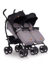 EasyGo Duo Comfort iker sportbabakocsi - Grey Fox