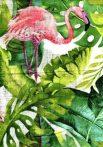 1db-os színes,mintás textil pelenka - Flamingó