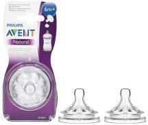 Avent Natural 6+ szilikon etetőcumi 2db - Y vágású