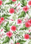 1db-os színes,mintás textil pelenka - virágok