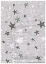 1db-os színes,mintás textil pelenka - szürke/fehér csillagos
