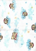 Baby Bruin mintás Tetra kifogó 90×100 cm - kék felhős maci