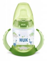NUK 150ml First Choice tanulópohár 6+ zöld dinók