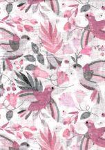 1db-os mintás pelenka - lila/szürke kolibri