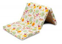 Összehajtható matrac utazóágyhoz 60x120cm - erdei állatok