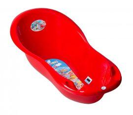 Autó mintás babakád 102 cm - piros