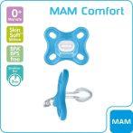 MAM Comfort szilikoncumi 0+ kék
