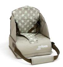 Asalvo Go Anywhere textil székmagasító utazószék háttámlás székre - Stars Beige