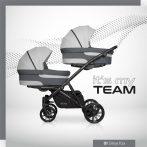 Riko Team 3in1 multifunkciós iker babakocsi - Grey Fox