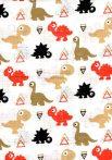 1db-os színes,mintás textil pelenka - színes dinók