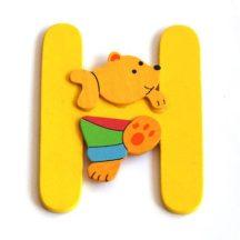 Fa betű H - sárga maci