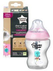 Tommee Tippee Closer To Nature cumisüveg 260ml színes 0+  Rózsaszín