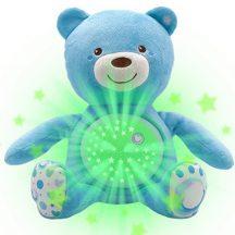 Chicco Baby Bear plüss maci projektor kék