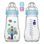 Mam  Feel Good 260ml  Premium üvegből készült cumisüveg 2+ (kék)