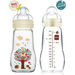 Mam Feel Good 260ml  Premium üvegből készült cumisüveg 2+ (drapp)