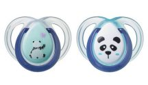 Tommee Tippee Anytime 2 db-os játszócumi - zöld/kék panda
