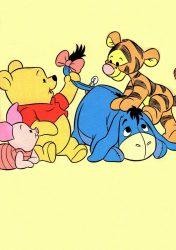 Disney pamut,gumis lepedő - Micimackó & barátai (sárga)