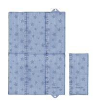 Pelenkázó alátét utazáshoz - Denim Style Stars Blue