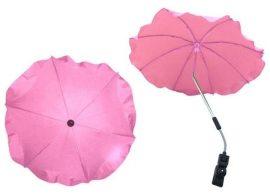 Univerzális napernyő babakocsihoz - pasztell rózsaszín