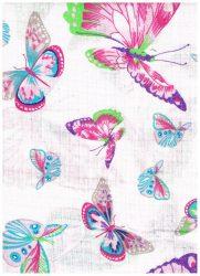 1db-os színes,mintás textil pelenka - színes pillangó