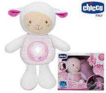 Chicco First Dreams zene-fény altató bárányka  0h + rózsaszín