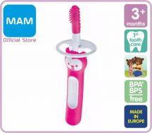 MAM Massaging Brush masszázsfogkefe 3+ rózsaszín