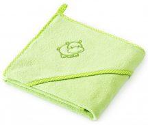 Kapucnis fürdőlepedő 80*80 cm - viziló zöld