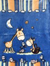 Baba pléd 80*110 cm - kék zsiráf