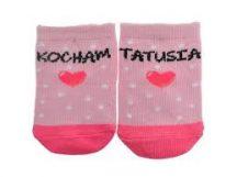 Yo! Baby pamut zokni 3-6hó - rózsaszín mintás/szíves