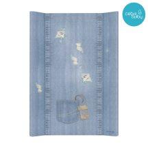 Puha 2 ékes pelenkázó lap 50*70 cm Denim Style - Shabby blue
