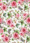 1db-os színes,mintás textil pelenka - piros rózsák