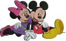 Disney habszivacs fali dekoráció - Mickey & Minnie