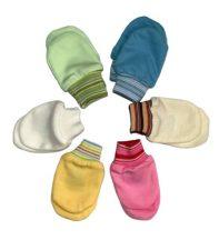 Újszülött karmolás elleni kesztyű - színes