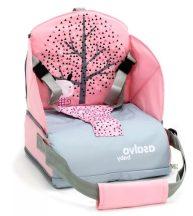 Asalvo Go Anywhere textil székmagasító utazószék háttámlás székre - Nordic Pink