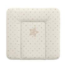 Puha pelenkázó lap 75*72 cm - beige csillagok
