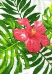 1db-os színes,mintás textil pelenka - piros virág