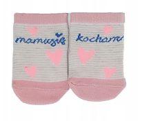 Yo! Baby pamut zokni 3-6hó - rózsaszín szivecskés